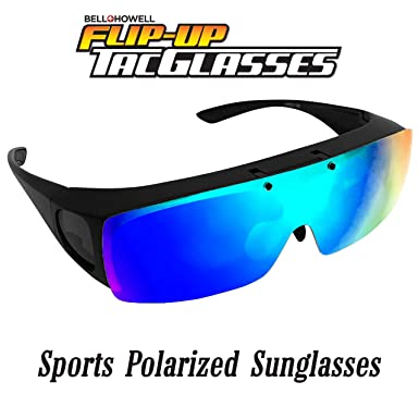 75e3c558718e Amazon.com  TAC FLIP Glasses by Bell+Howell Sports Polarized ...