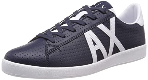 Armani Exchange Herren Action Leather Lace Up Sneaker