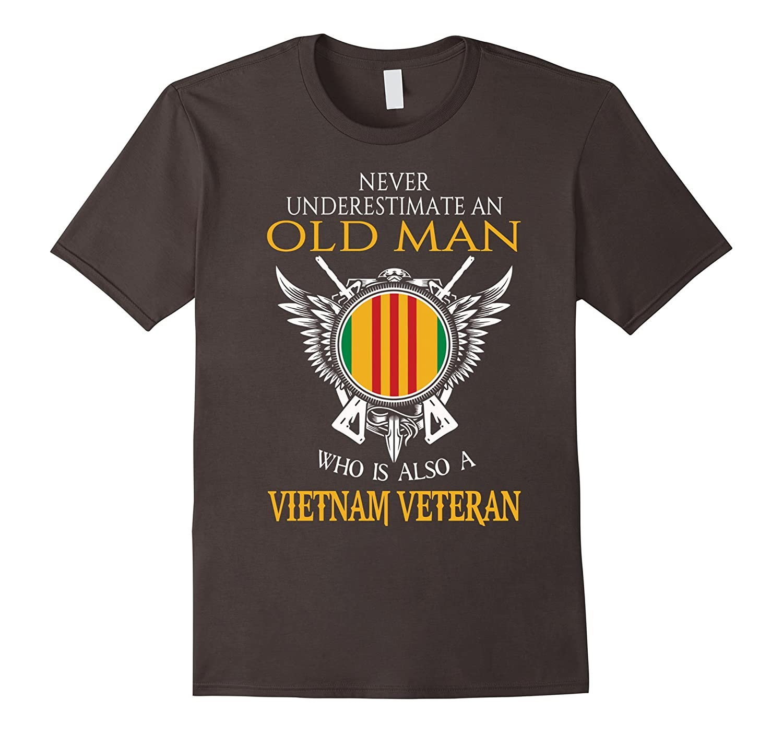 never underestimate old man shirt vietnam veteran t