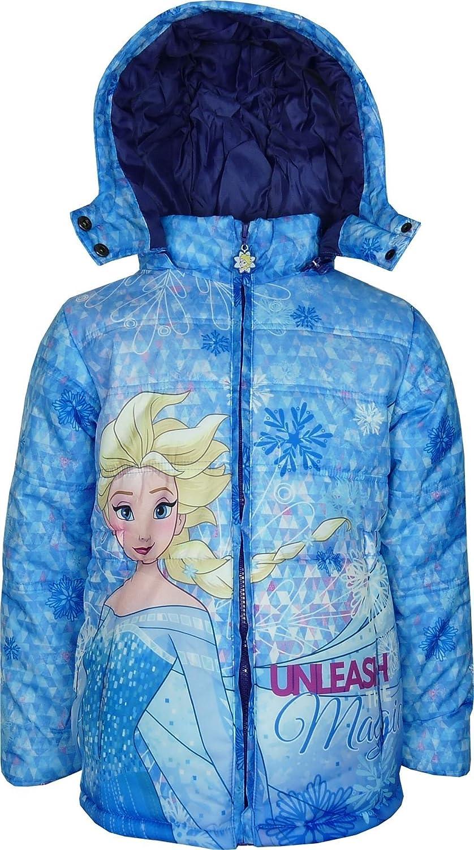 Bambine e ragazze Disney Frozen Giacca con cappuccio invernale Blu DHQ1010
