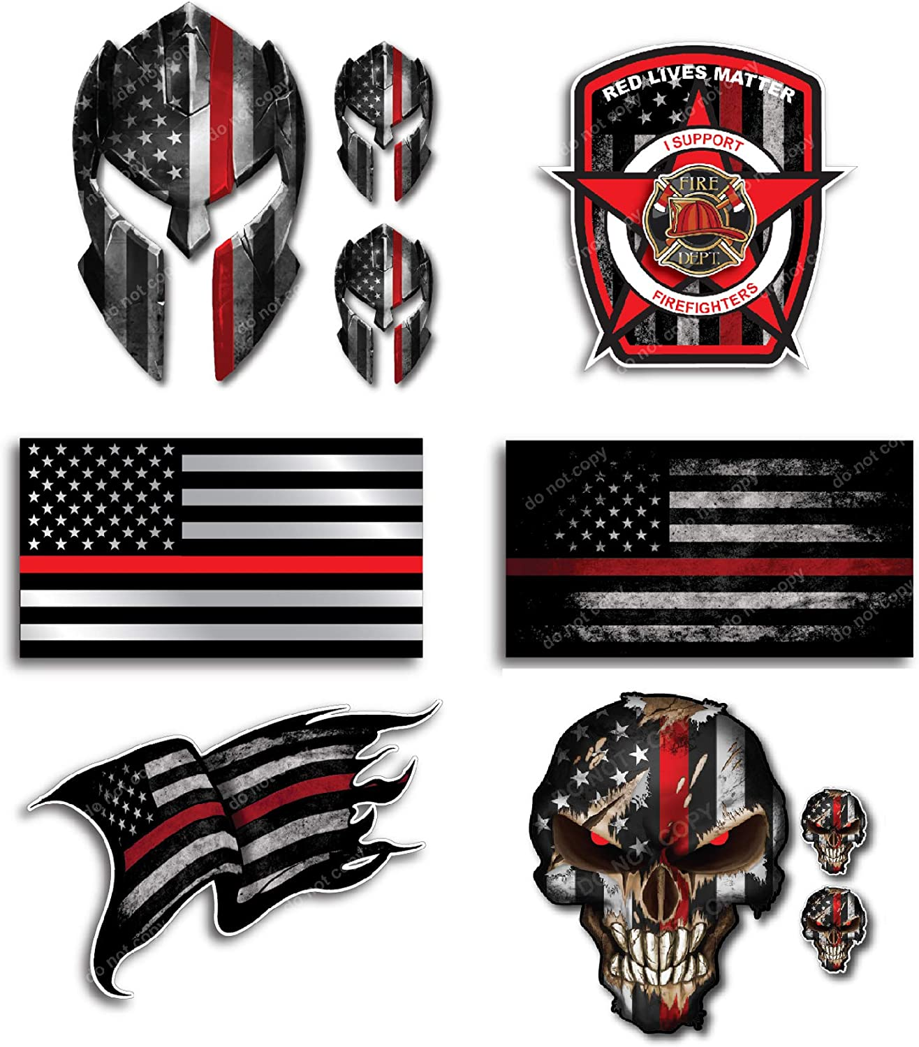 Distressed American Flag Maltese Cross Decals Pack Of Two