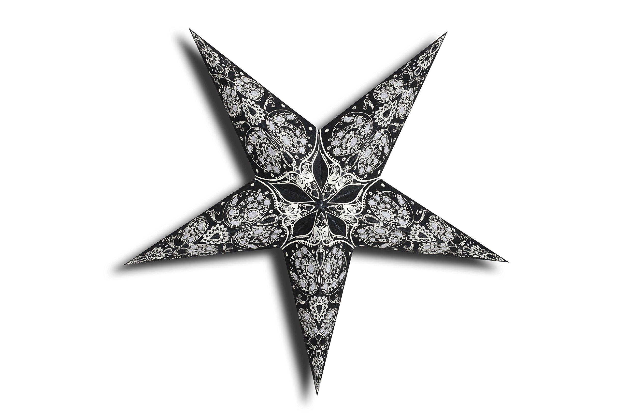 GalaxyArts - Maharani (Black) - Paper Star Lantern - Handmade