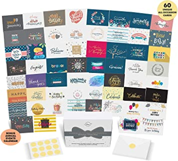 8 All Occasion Card Assortment 8 Pack Cute Greeting Cards  with Envelopes