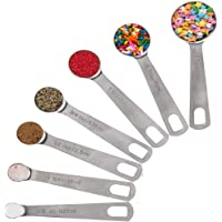 Stainless Steel Measuring Cups and Spoons Set: 7 Cup and 7 Spoon Metal Sets of 14 for Dry Measurement - Home Kitchen Gadget, Tool & Utensils for Cooking & Baking - Perfect Wedding or Housewarming Gift