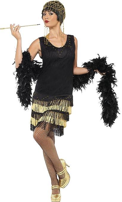 Smiffys 33676M - Disfraz De Joven A La Moda De Los Años 20, Negro, talla M (40 - 42 EU)