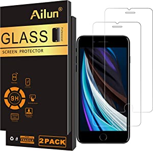 Ailun Screen Protector for iPhone SE 2020 new iPhone SE 2Pack 0.33mm Tempered Glass Compatible with iPhone SE 2nd Generation Anti-Scratch Case Friendly