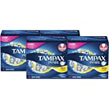 Tampax Pearl Tampons with Plastic Applicator, Regular Absorbency, Unscented, 50 Count-Pack of 4 (200 Count Total)