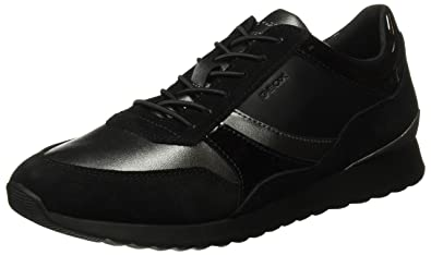Womens D Deynna D Low-Top Sneakers, Black Geox