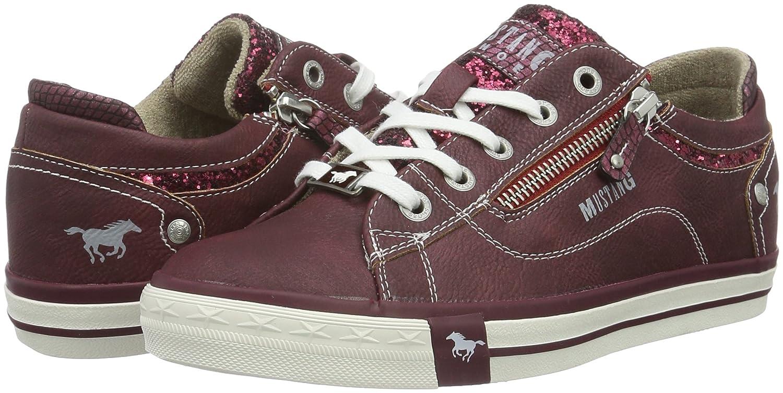 Mustang 1146-301, Zapatillas Para Mujer, Rojo (55 Bordeaux), 40 EU: Amazon.es: Zapatos y complementos