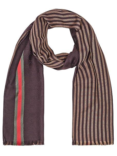 lucentezza adorabile 2019 reale vendita a buon mercato nel Regno Unito Gucci sciarpa (u-07 - SC-33607) - taglia unica - marrone ...