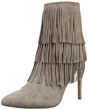 Steve Madden Women's Flappper Boot, Taupe Suede, 10 M US