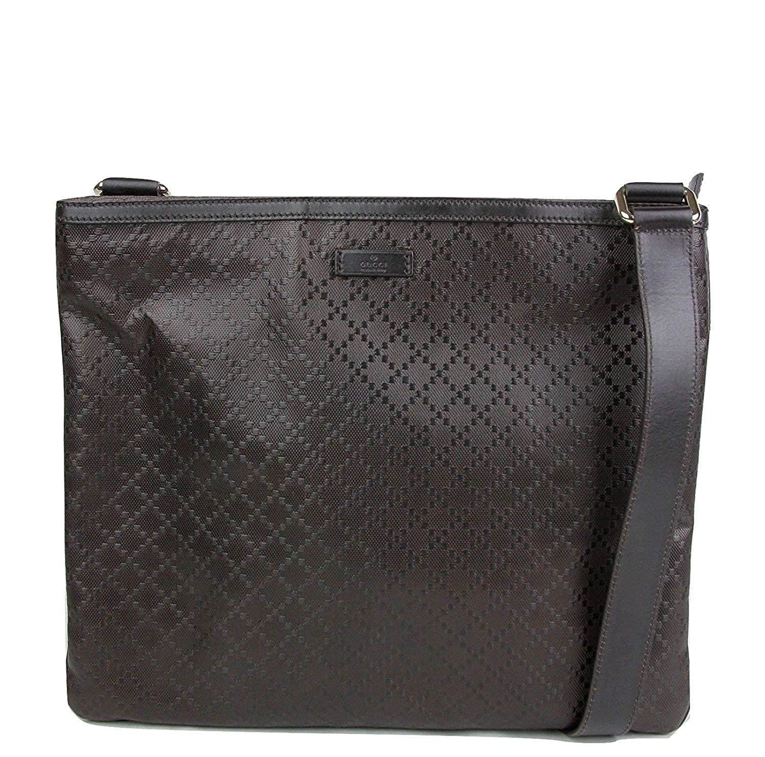 fdbe12bf7993d3 Amazon.com: Gucci Hilary Dark Brown Lux Diamante Leather Messenger Bag  201446 2044: Shoes