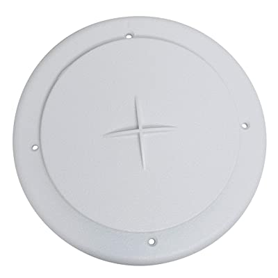 """Valterra A10-3354VP Rotating/Dampered Heating and A/C Register - 4"""" ID x 7"""" OD, White: Automotive"""
