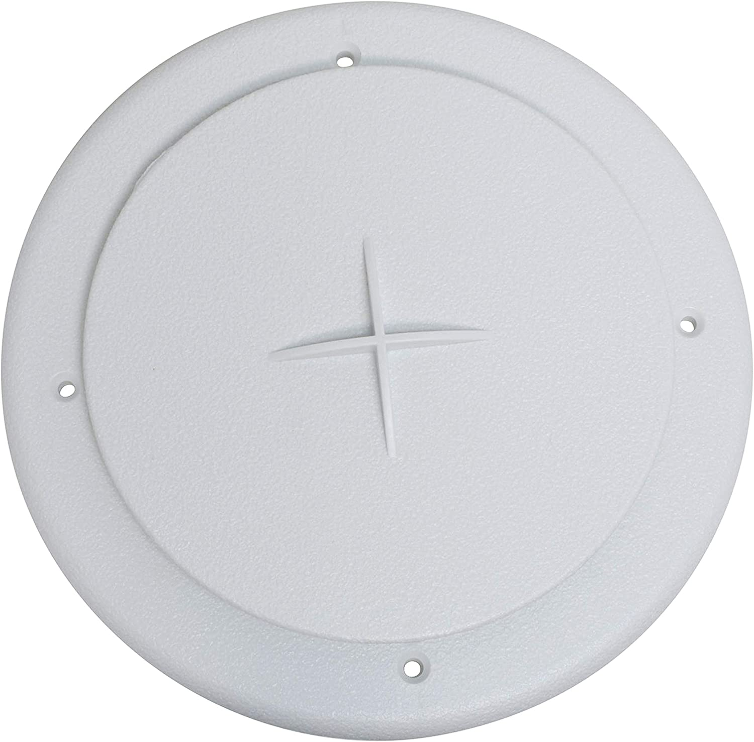 """Valterra A10-3354VP White Rotating Heat and A/C Register with Damper (4"""" ID, 7"""" OD)"""