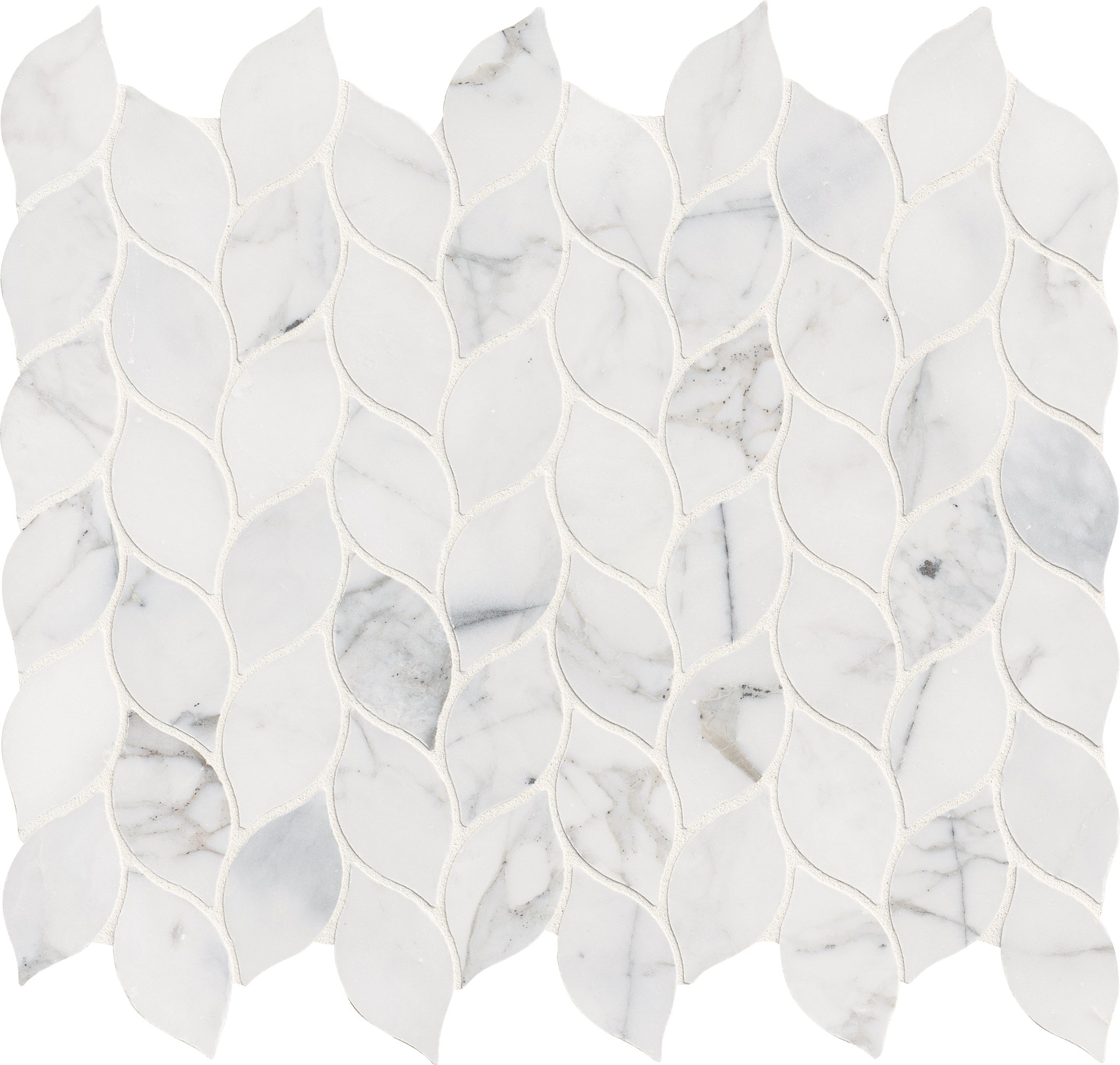 M S International SMOT-CALCRE-2X4H Mesh-Mounted Mosaic Tile Calcutta Cressa 11.81'' x 12'' x 10 mm Honed Marble 9.8 sq. ft./Case, White, 10 Piece by MS International