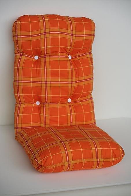 Auflage Polsterauflage Baumwolle Hochlehner 120x50 Modell 850