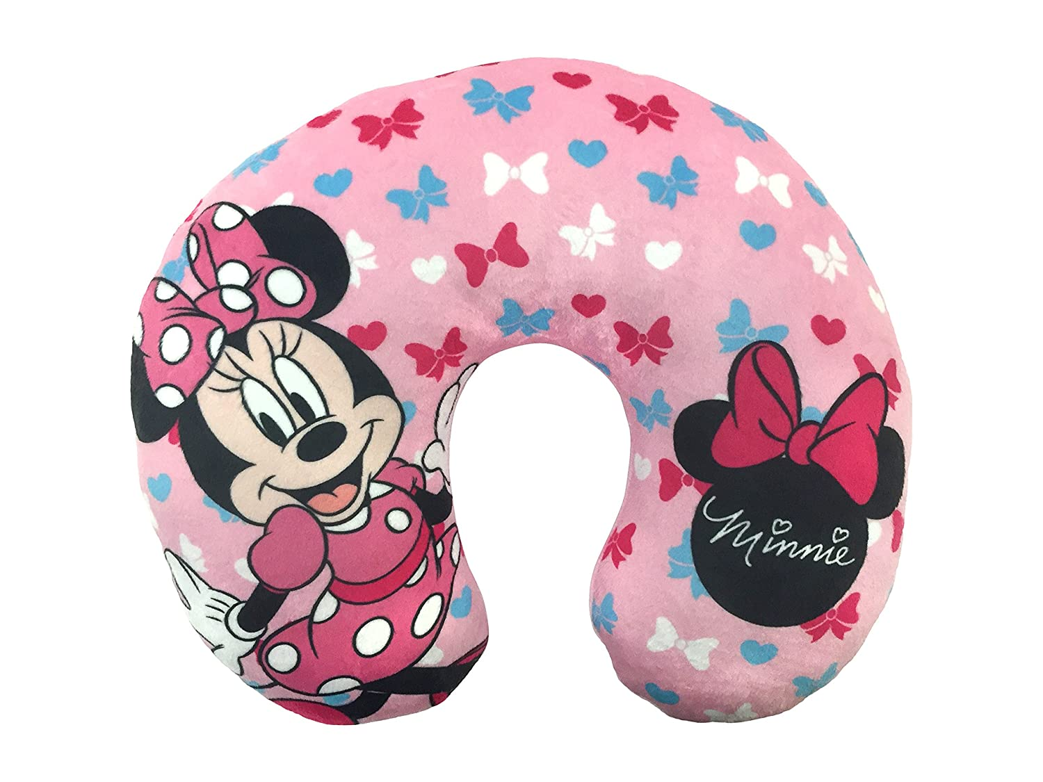 Disney Minnie Mouse Bows Travel Neck Pillow Jay Franco and Sons Inc. JF16947ECD
