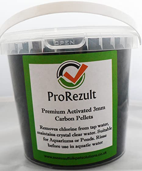 Prorezult - Filtro de carbón activado para acuario o estanque, 1 litro, 500 g