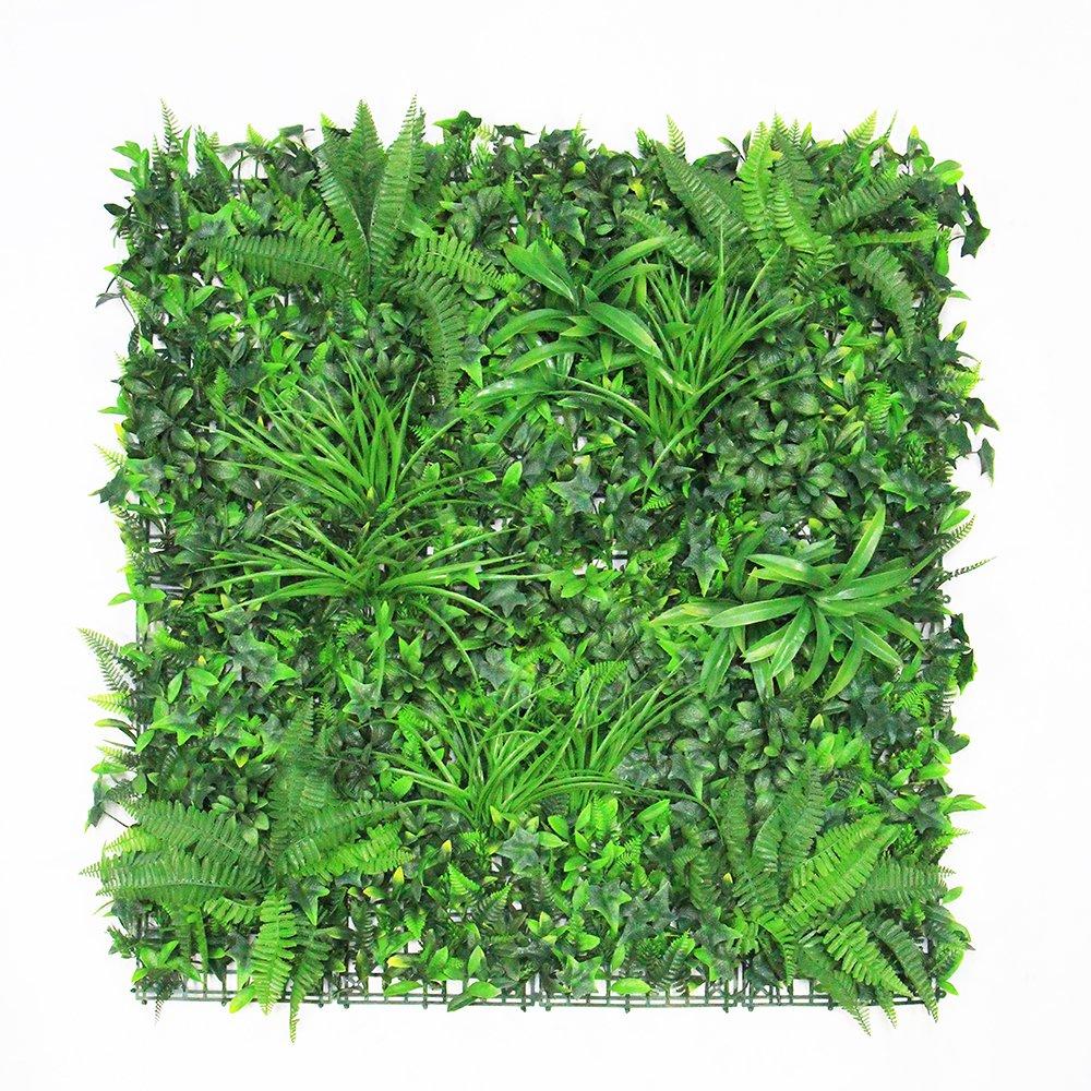 ULAND ウォールグリーン 壁面緑化 フェイクグリーン 人工 観葉 植物 マット 壁掛け 造花 ミックス リーフ ラベンダー 緑 店舗装飾 芝生 インテリア 1mx1m (B041) B07C227WTM  B041