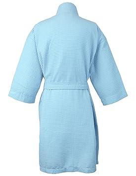 dc6817211d Amazon.com  BC BARE COTTON Thigh Length Waffle Kimono Robe