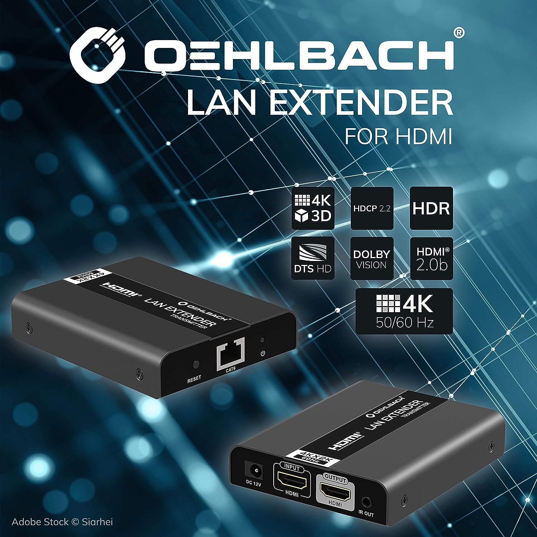 Oehlbach Hdmi Lan Extender Set Elektronik