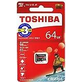 【3年保証】 microSDXC 64GB 東芝 Toshiba 超高速U3 アプリ最適化A1 4K対応 Osmo pocket 動作確認済 [並行輸入品]