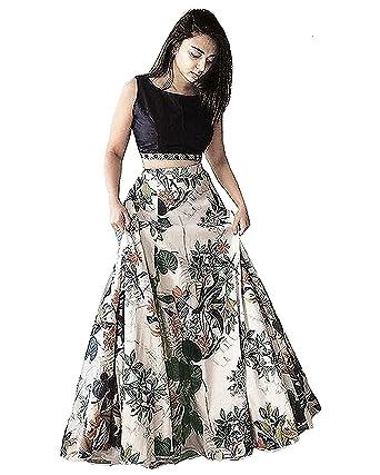 Jil Creation Women S Princess Floral Printed Party Wear Long Skirt