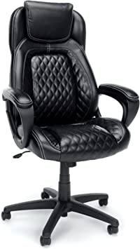 OFM Essentials Collection Racing Style SofThread Leather High Back Office Chair - Integrated Support