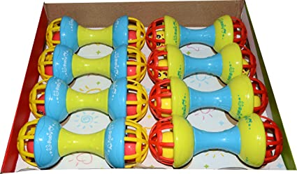 Buy Vibgyor Vibes Attractive Colourful Jingle Dumbbell