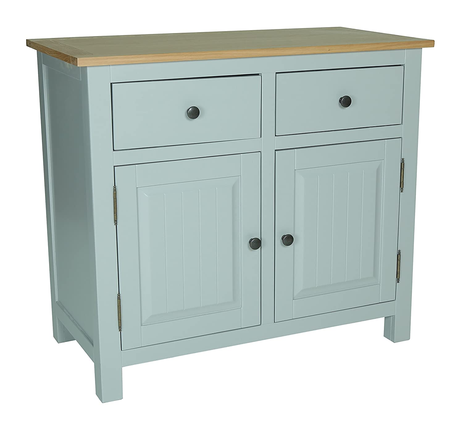 Newcam Wooden Sideboard, Small - Natural Oak and Cream: Amazon.co.uk ...