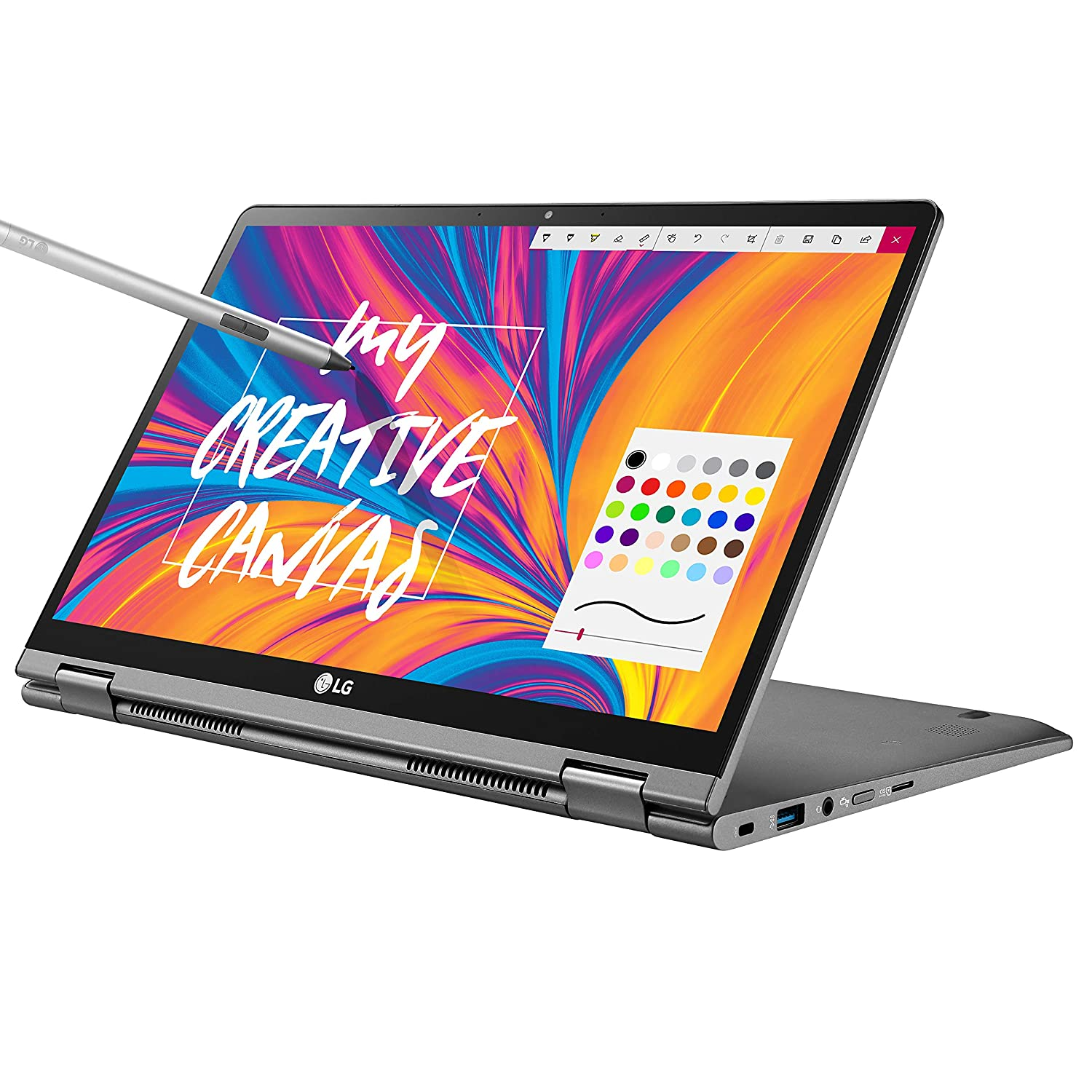 """LG Gram 14"""" 2-in-1 Ultra-Lightweight Laptop with Intel Core i7 Processor and Wacom Pen, Silver"""