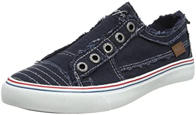 8518921df7 Blowfish Women's Play Trainers, Blue (Navy Washed Canvas), 4 UK 37 EU