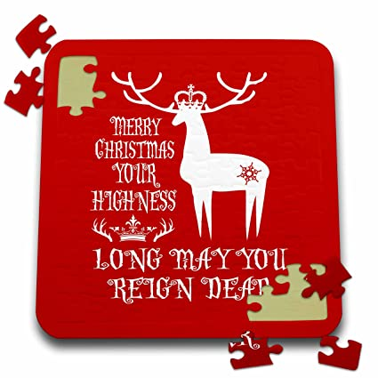 russ billington christmas designs funny reindeer play on words design in white on red