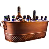 BREKX Colt Copper Finish Beverage Tub & Wine Chiller, Medium, Bronze