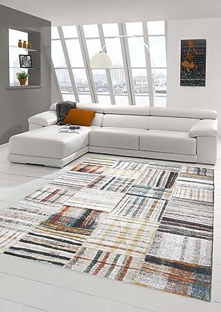 Designer Teppich Moderner Teppich Wohnzimmer Teppich Gestreift mit ...