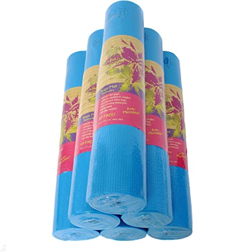 Mahalo - Essential Thick Yoga Mat - Wholesale 6-Pack - 6P, Heavy Metal, Lead and Latex-Free - High-Tack - Antimicrobial - Extra Thick, Extra Long 74 x 24 Inches x 6mm