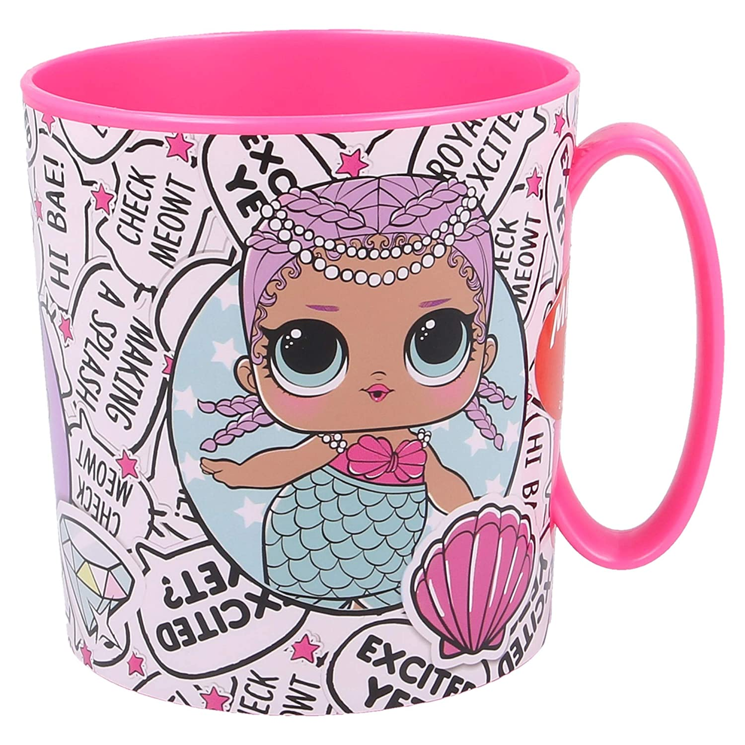 TAZA MICRO 350 ML | LOL SURPRISE ROCK ON: Amazon.es: Hogar