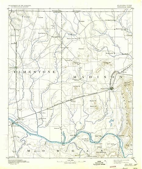 Amazon.com: YellowMaps Huntsville AL topo map, 1:125000 ...