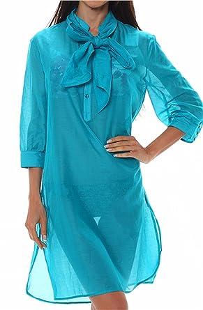 38128b0a82 Aubade Robe de Plage couleur Turquoise N669 Taille 1/FR XS/US ...