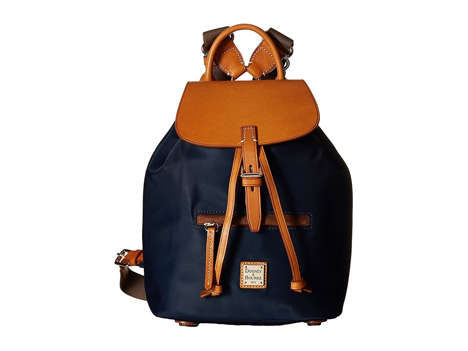 [ドゥニー&バーク] Dooney & Bourke レディース Windham Small Allie Backpack バックパック [並行輸入品] B01NBAXWQ2 Navy/Natural Trim