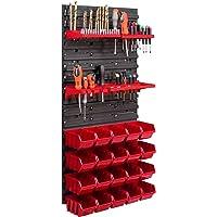 20 stapelboxen gereedschapshouder wandrek werkplaatsrek gereedschapswand 39 x 78 cm gereedschapshouder opslagsysteem…