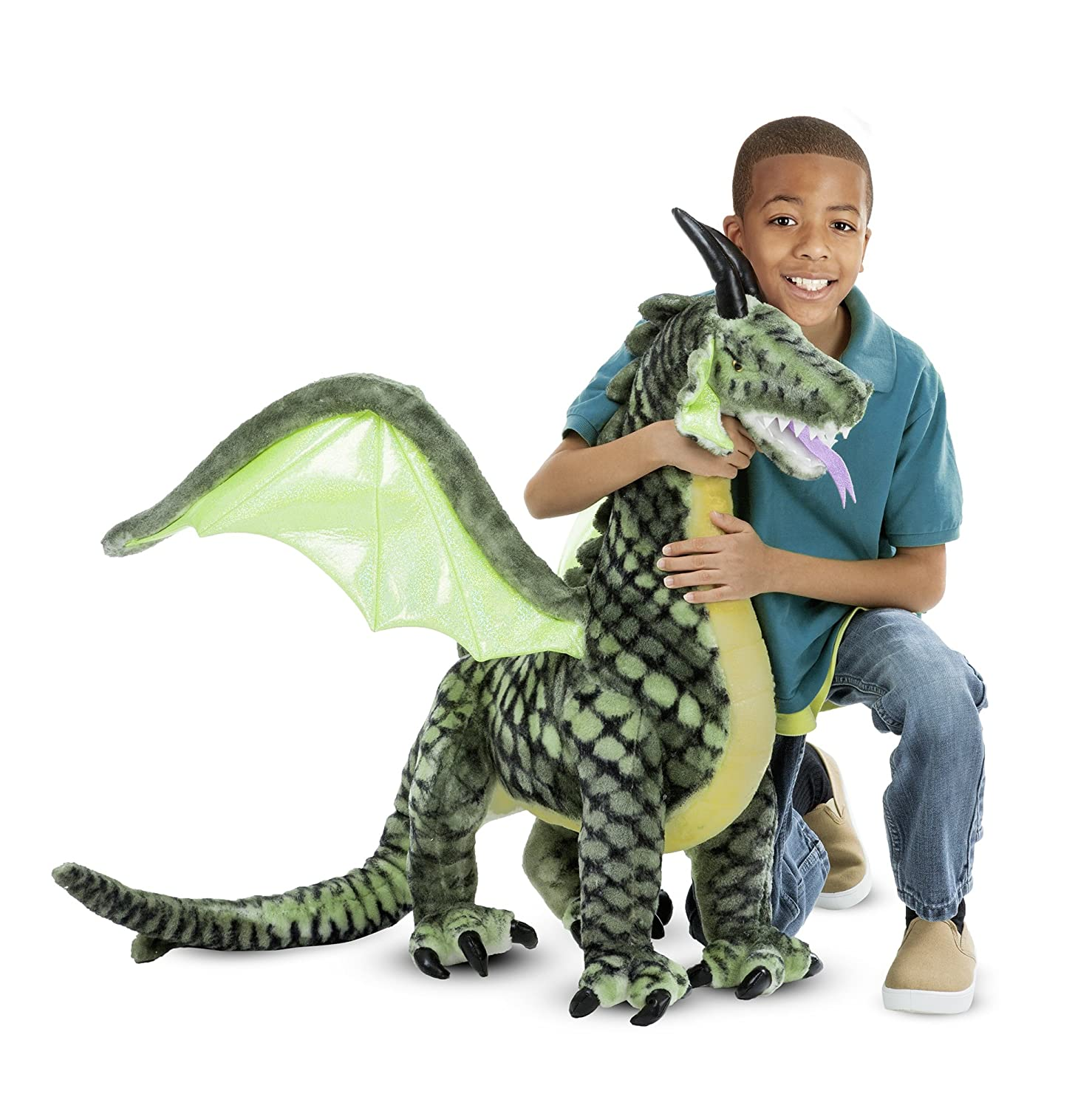 Melissa & Doug Winged Dragon-Plush Animal, 36 x 40.5 x 16""