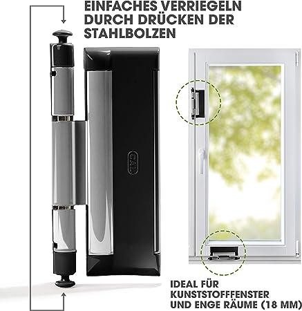 Cal DoubleX XL Argent Noir, sécurité de porte et fenêtre Protection anti-vol, serrure de fenêtre – 2 Vannes en acier: Amazon.es: Bricolaje y herramientas