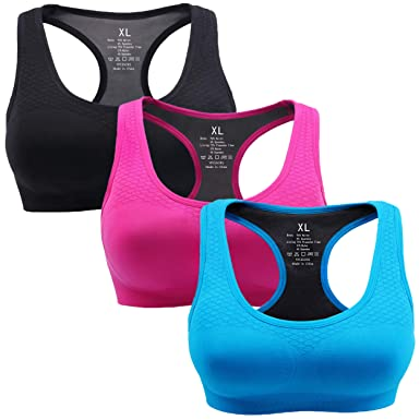 4a7e6fa45e Image Unavailable. Image not available for. Color  YPCESORS Women s Seamless  Racerback Sports Bra - High Impact Support for Workout
