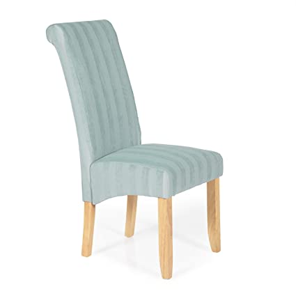 Stupendous Pair Of Serene Kingston Striped Fabric Dining Chairs In Duck Cjindustries Chair Design For Home Cjindustriesco