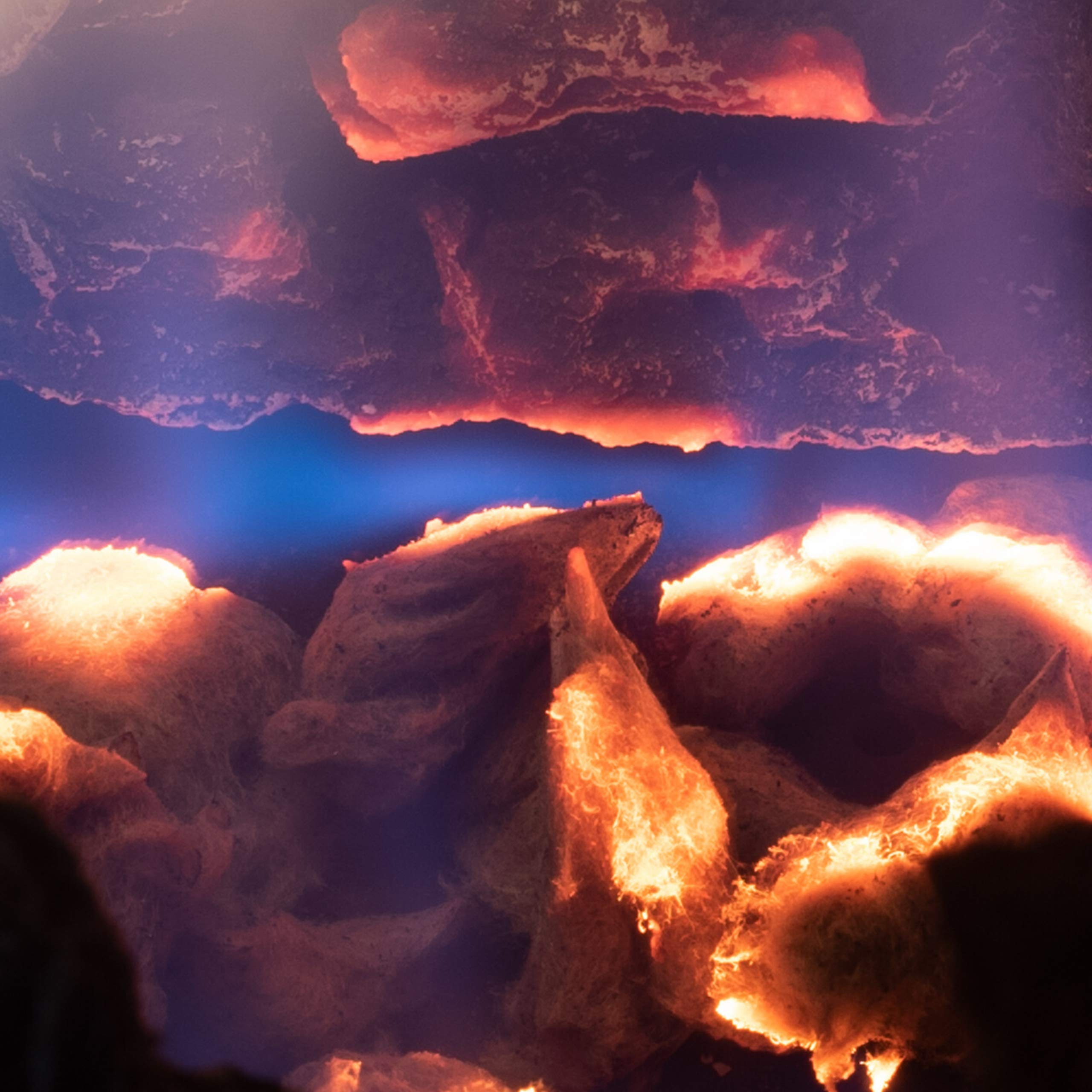Natural Glo Glowing Embers for Gas Fireplace | Mineral Wool Gas Log Embers to Enhance Gas Fireplaces. Rock Wool Fake Coals for Gas Fireplaces | Embers Glowing for Use with Gas Fireplace Logs by Natural Glo