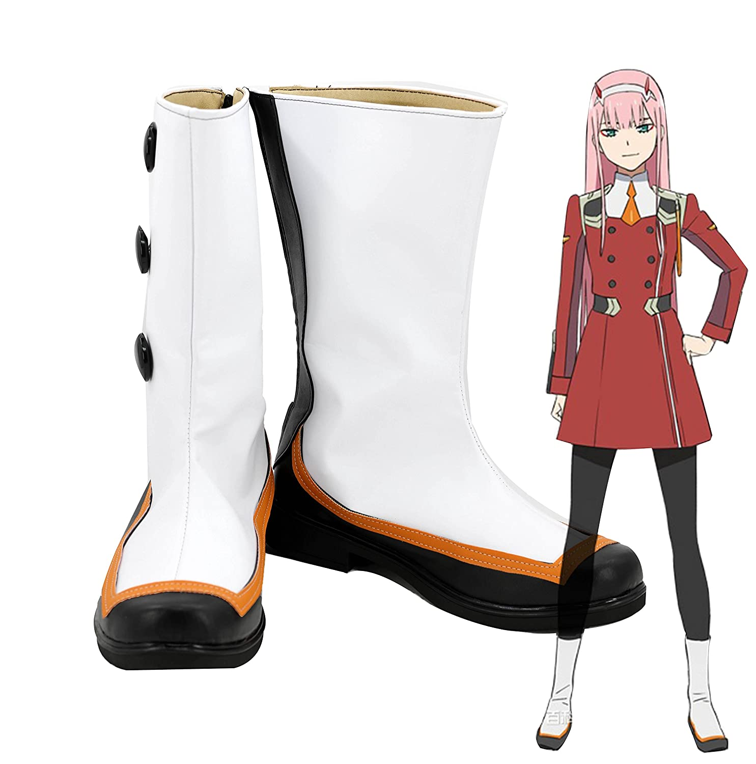 Telacos DARLING in the FRANXX 02 ZERO TWO Cosplay Shoes Boots Custom Made 9 B(M) US Female