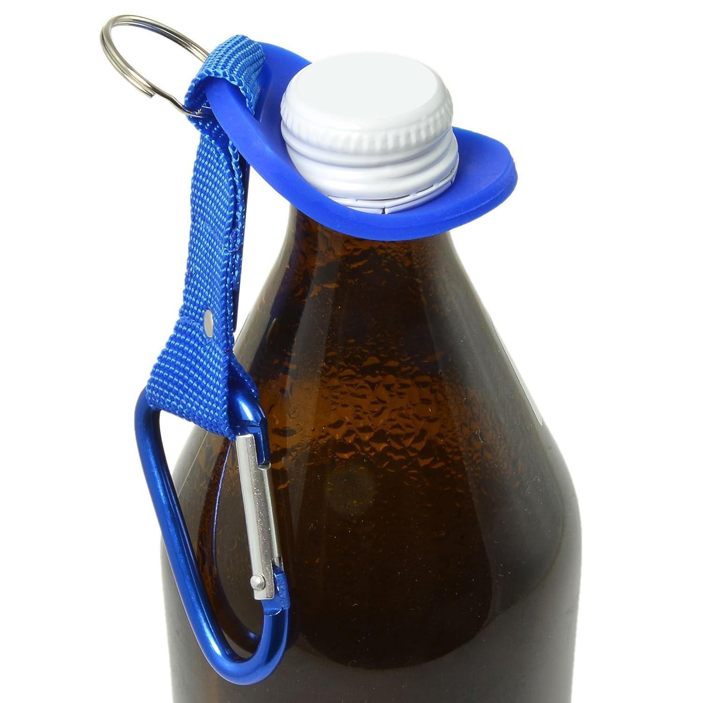 Halteriemen f/ür alle g/ängigen Flaschen Rucksackbefestigung f/ür Flaschen Marke Ganzoo Flaschenhalter aus Silikon mit Karabiner zur Befestigung