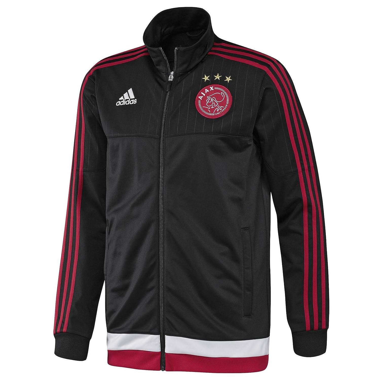 2015-2016 Ajax Adidas PES Tracksuit (Black): Amazon.es: Deportes y ...
