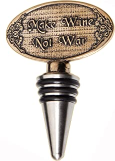 "product image for ""Make Wine Not War"" Wine Bottle Stopper"